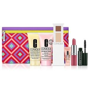 Clinique Gift Set with Cosmetic Bag NIB Value $120